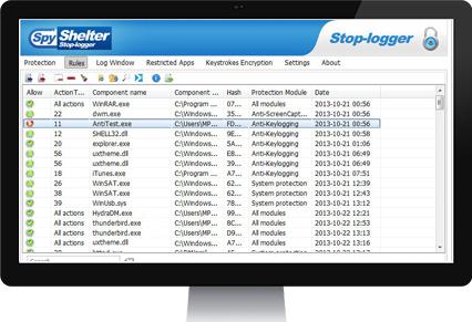 spyshelter firewall screenshot
