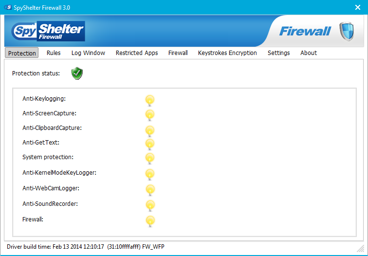 SpyShelter Firewall Screen shot